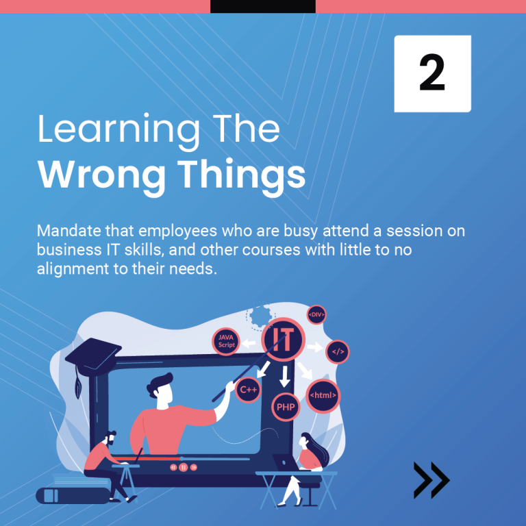 4 Points where Companies Go Wrong with Learning and Development-03